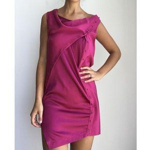 3.1 PHILIP LIM fuschia silk asymmetrical dress 4